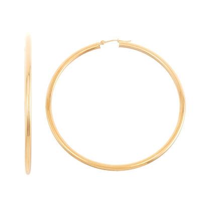 14K Gold 2 1/2 Inch Hoop Earrings