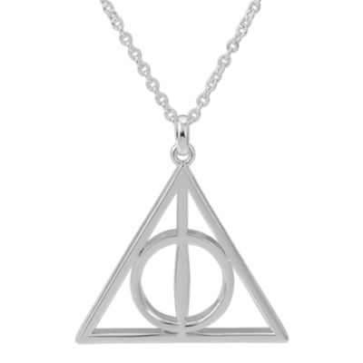 Warner Bros Deathly Hallows Womens Brass Harry Potter Pendant