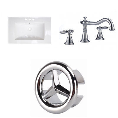 21-in. W 3H8-in. Ceramic Top Set In White Color -CUPC Faucet Incl.