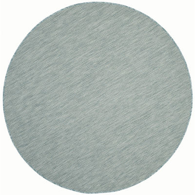 Safavieh Courtyard Collection Katelyn Geometric Indoor/Outdoor Round Area Rug