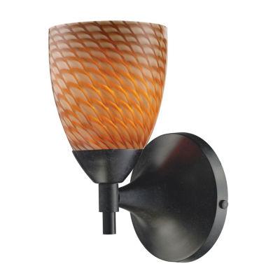 Celina 1 Light Sconce In Dark Rust