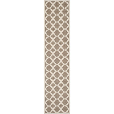 Safavieh Courtyard Collection Bokhara Geometric Indoor/Outdoor Runner Rug
