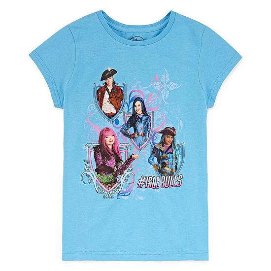 Disney Girls Round Neck Short Sleeve Descendants Graphic T-Shirt - Preschool / Big Kid
