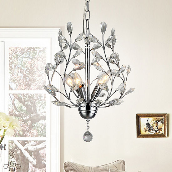 Warehouse of tiffany marie 4 light chrome 13 inch crystal chandelier warehouse of tiffany marie 4 light chrome 13 inch crystal chandelier aloadofball Image collections