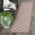 Safavieh Courtyard Collection Corrine Oriental Indoor/Outdoor Runner Rug
