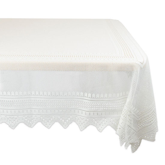Design Imports Off-White Nordic Lace Tablecloth