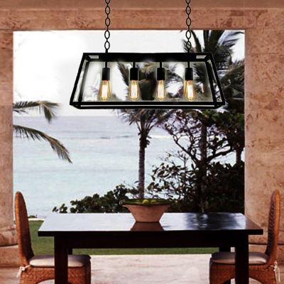 Warehouse of Tiffany's Island 4-light Edison Lamp with Bulbs