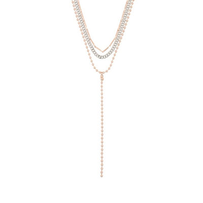 Decree Womens Brass Strand Necklace