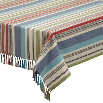 Design Imports Mediterranean Stripe Tablecloth