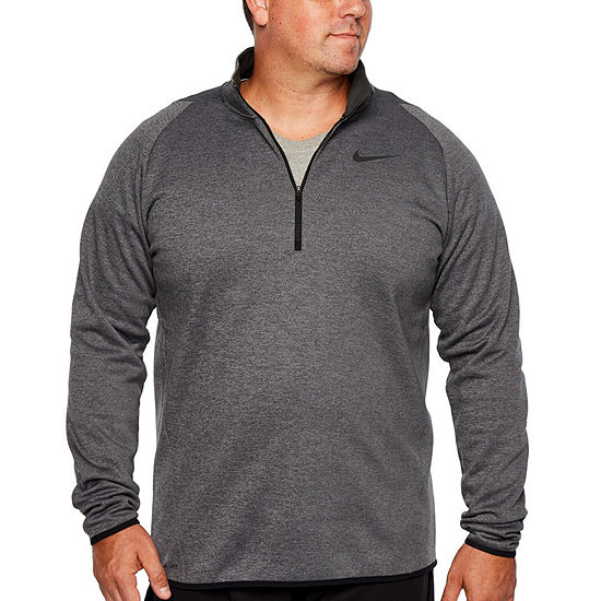 Nike Big and Tall Mens Long Sleeve Quarter-Zip Pullover