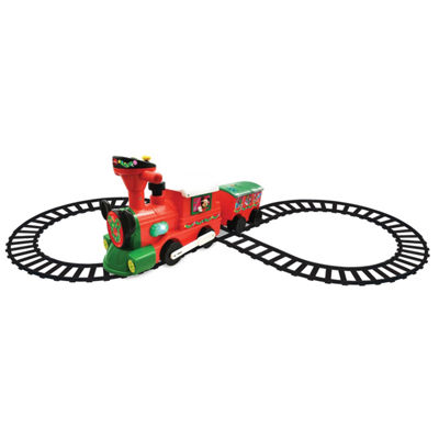 Kiddieland Disney Mickey & Minnie Mouse 2-In-1 Battery-Powered Christmas Train With Caboose
