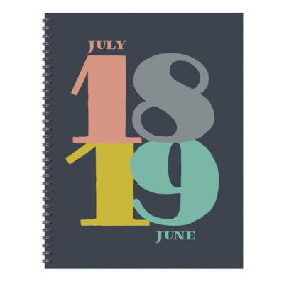 July 2018 - June 2019  Pop Art Large Weekly Monthly Planner
