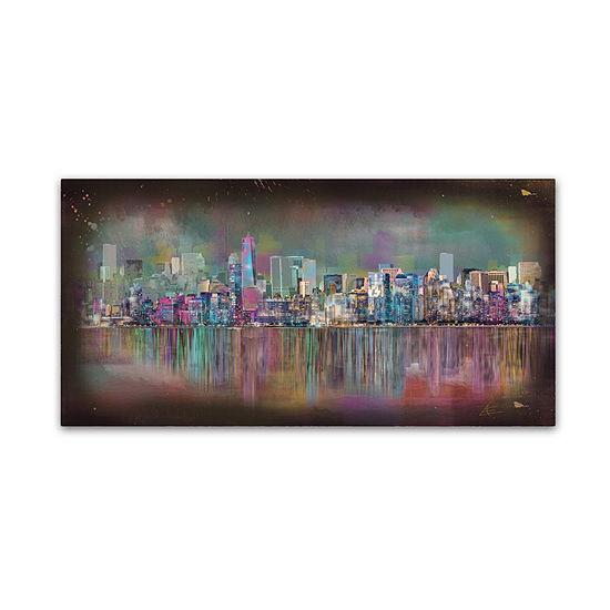 Trademark Fine Art Ellicia Amando New York City Giclee Canvas Art