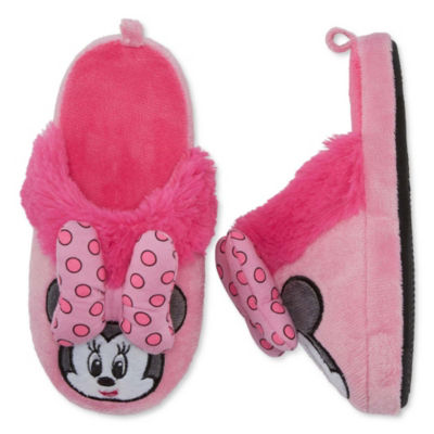 Disney Collection Girls Minnie Mouse Slip-On Slippers