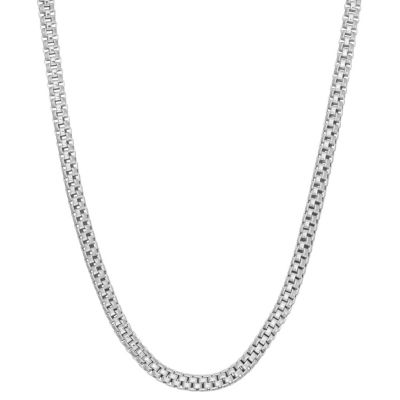 Womens 16 Inch Sterling Silver Link Necklace