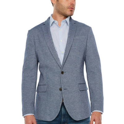 JF J.Ferrar 360 Everyday Stretch Blue Heather Classic Fit Sport Coat