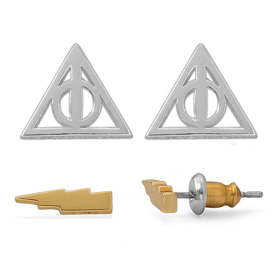 Warner Bros 2 Pair Harry Potter Jewelry Set