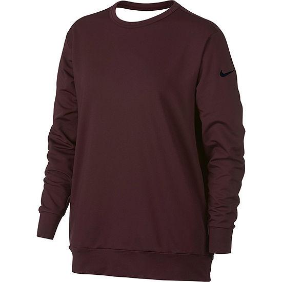 Nike Dry Long Sleeve Drape Back T-Shirt-Womens