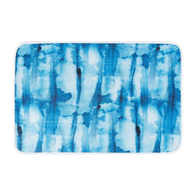 Tayse Tie Dye Contemporary Abstract Anti-Fatigue Comfort Kitchen Mat