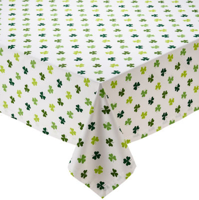 Design Imports Shamrock Shake Printed Tablecloth
