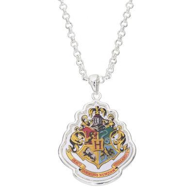 Warner Bros Hogwarts Crest Womens Brass Harry Potter Pendant Necklace