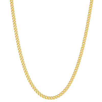 Womens 14K Gold Over Silver Link Necklace