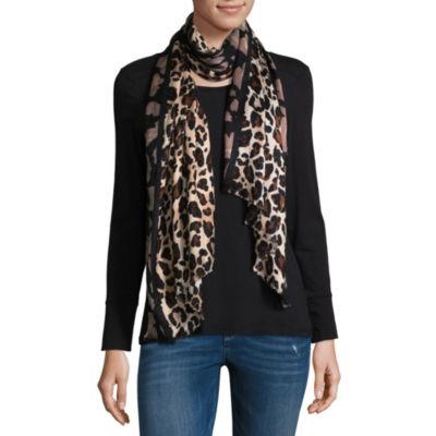 Liz Claiborne Pashmina Leopard Scarf
