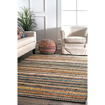 nuLoom Erasmo Stripes Cotton Rug, One Size , Multiple Colors