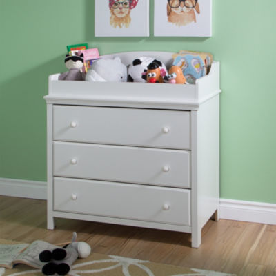 Cotton Candy Changing Table with Drawers