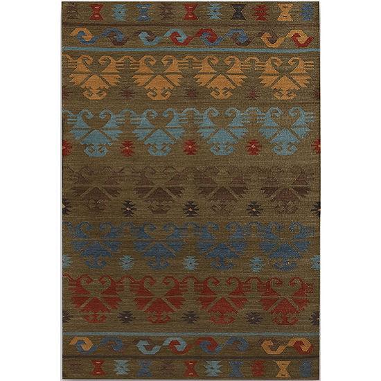 Amer Rugs Makamani AA2 Flat-Weave Wool Rug