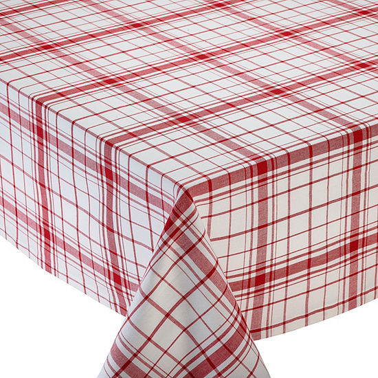 Design Imports Down Home Plaid Tablecloth - Round