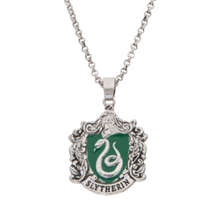 Warner Bros Slytherin House Crest Womens Pendant Necklace Set