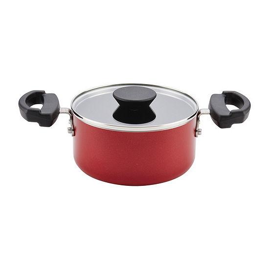 Farberware 1.5-Qt. Covered  Saucepot Aluminum Dishwasher Safe Non-Stick Stockpot