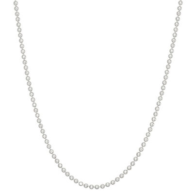 Solid Bead White Chain Necklace