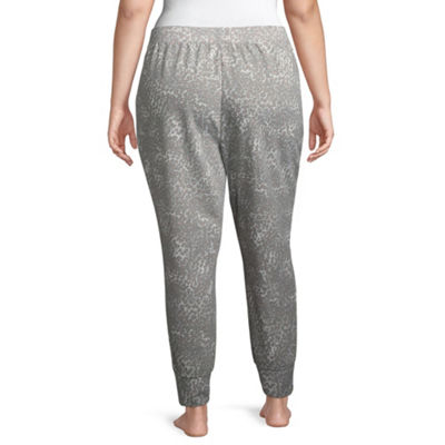 Ambrielle French Terry Jogger Pants-Plus