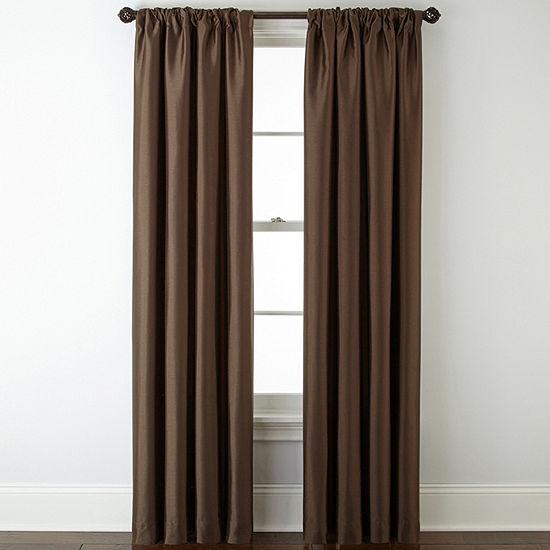 JCPenney Home Energy Saving Blackout Rod-Pocket Single Curtain Panel