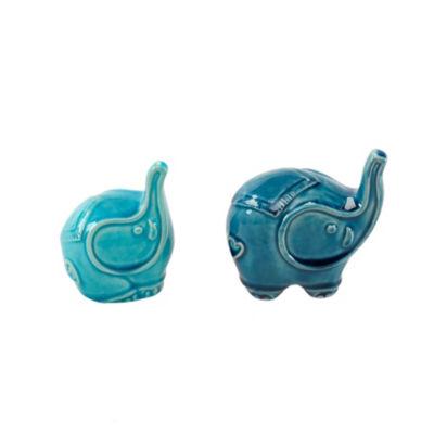 Madison Park Elephant Shaped Ceramic Decor Set Of2