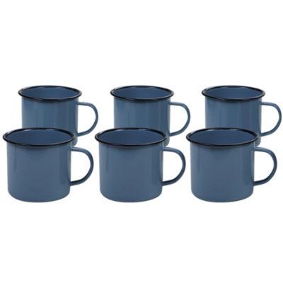 Certified International Enamelware Teal Coffee Mug