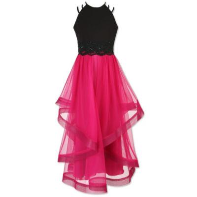 Speechless Embellished Sleeveless Pattern Maxi Dress - Big Kid Girls