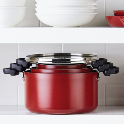Farberware 1.5-Qt. Covered  Saucepot Aluminum Dishwasher Safe Non-Stick Stockpot