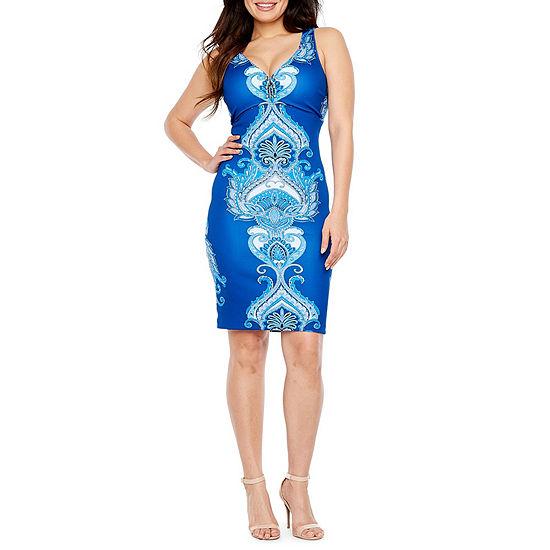Bold Elements Sleeveless Barbell Bodycon Dress