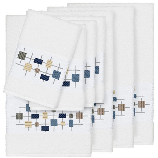 Linum Home Textiles 100% Turkish Cotton Khloe 8PC Embellished Towel Set