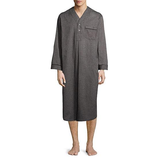 Stafford Men's Solid Flannel Nightshirt