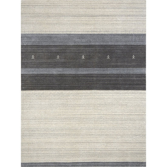 Amer Rugs Blend AD Hand-Woven Wool and Viscose Rug