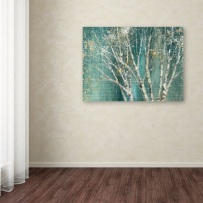 Trademark Fine Art Julia Purinton Blue Birch Giclee Canvas Art
