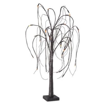 JCPenney Home LED Black Glitter Tree Tabletop Decor