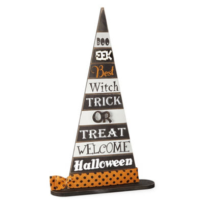 JCPenney Home Eek Witch Hat Tabletop Decor