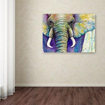 Trademark Fine Art Michelle Faber Elephant Face Giclee Canvas Art