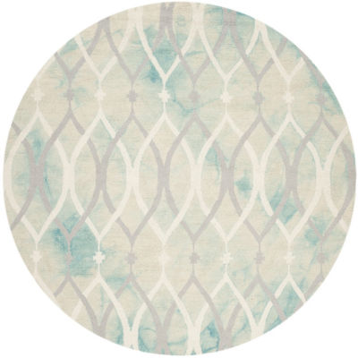 Safavieh Dip Dye Collection Harlan Geometric RoundArea Rug