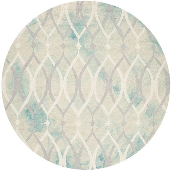 Safavieh Dip Dye Collection Harlan Geometric RoundArea Rug
